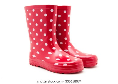 Gumboots. Isolated on white.