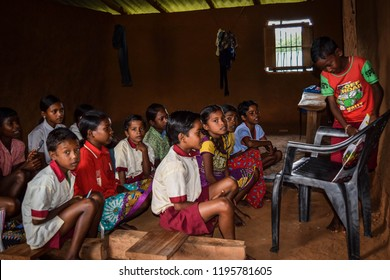 Gumla, Jharkhand, Sep 01,2018, Picture of village School classroom of a ngo School at gumla,jharkhand, India
