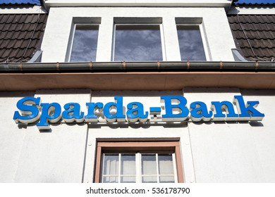 GUMMERSBACH, GERMANY - December 10, 2016: Sparda-Bank branch. Sparda-Bank is a German co-operative bank and traditionally focused on private banking.