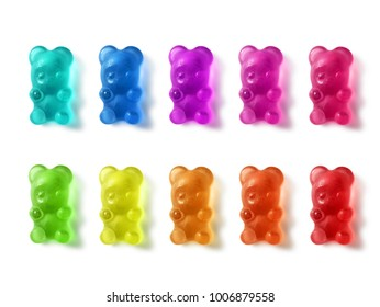 Gummy Bears On White Background