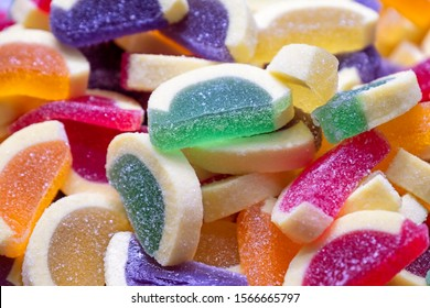 Gummy Candies With Granulated Sugar