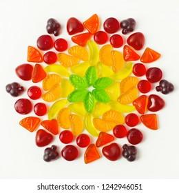 Gummigelb-Bonbons