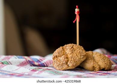 gummy turkish cookies on table