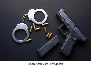 Police Gun Images, Stock Photos & Vectors   Shutterstock