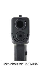 gun barrel isolated on white background