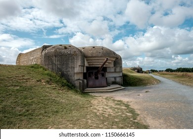 gun battery of Longues-sur-Mer in Normandy