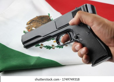 Gun with flag of Mexico
