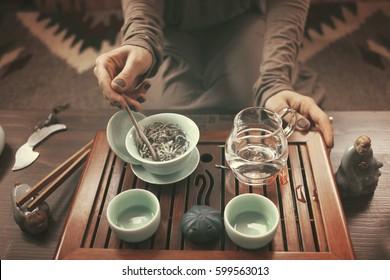 Gun Fu Cha. Tea Ceremony