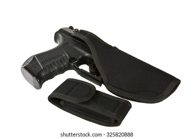 Military Russian Army Shoulder Holster pistol on Makarov wearing safety Uniform