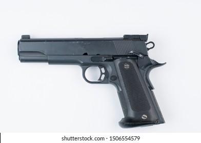 Gun isolated on white background.Pistol isolated