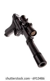 Gun isolated over white