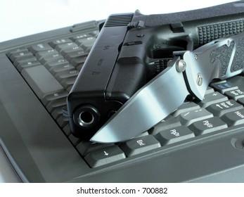 Gun & knife