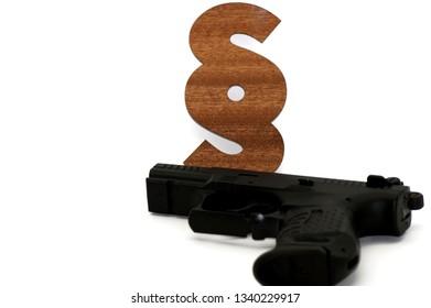 Gun law, Gun released on neutral Background