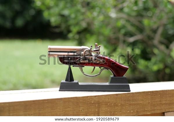 Gun lighter vintage flintlock pistol