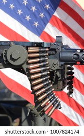 gun machine with american flag