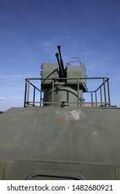 Gun mount on the armored train