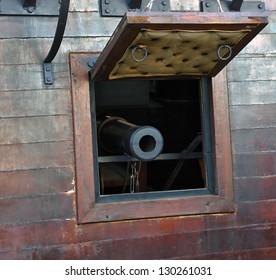 gun in old pirates ship nobody