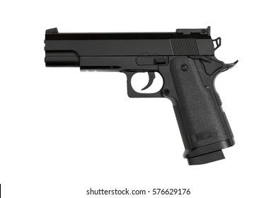 gun on isolated white background