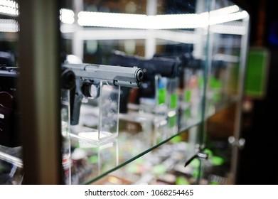 Gun on shelves
