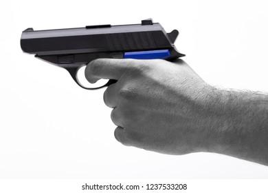 gun on the white background