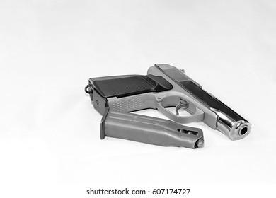 Gun on a white background.