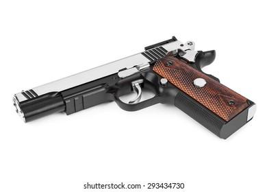 Gun pistol isolated on white background