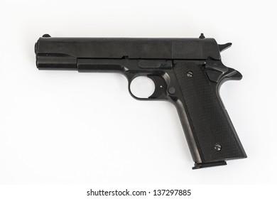gun, pistol, on white background