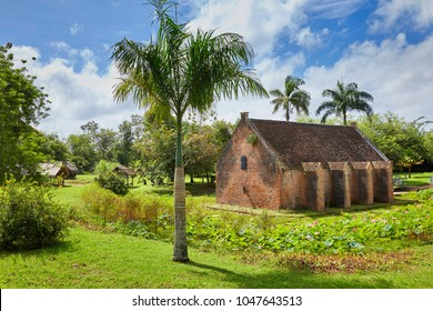 Gun Powder Storage building (1778) of Fort New Amsterdam (1734) on the riverbank where the Commewijne River and Suriname River meet, near Paramaribo, Suriname, South-America