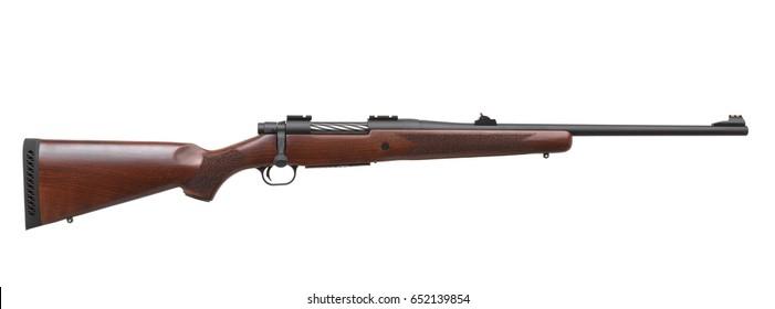 Gun rifle isolated on white background