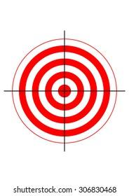 gun shooting range bullseye illustration target symbol