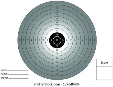 Gun shooting target for printing.