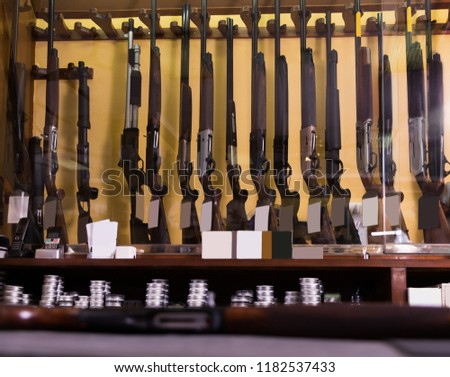 Gun Shop Interior Different Rifles On Stock Photo Edit Now