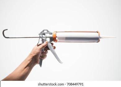 Gun with silicon white background
