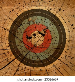 Gun Target Grunge Background