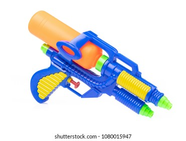 Gun water toy isolated on a white background