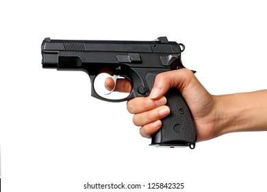 Gun in Women Hand