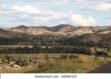 Gundagai, NSW/Australia February 21: Gundagai is a historic town located along the Murrumbidgee River in NSW Australia. The view from Gundagai Rotary Lookout is breathtaking - 21th February 2015.