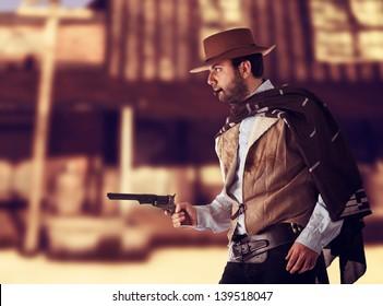 Gunman in the old wild west