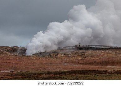 Gunnuhver is a highly active geothermal area located at Reykjanes peninsula in Iceland.