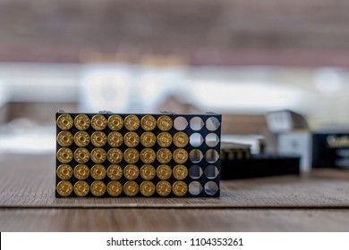 Guns ammunition packaging.