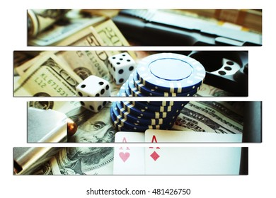 Guns & Money Stock Photo High Quality