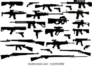 Guns: old and modern