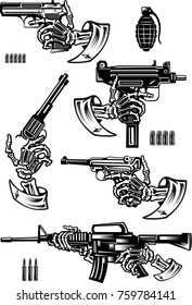 Guns: pistol and revolver