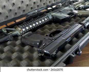 Guns in Soft Secure Storage Case