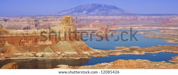 Gunsight Butte on the Utah side of Lake Powell in Glen Canyon National Recreation Area