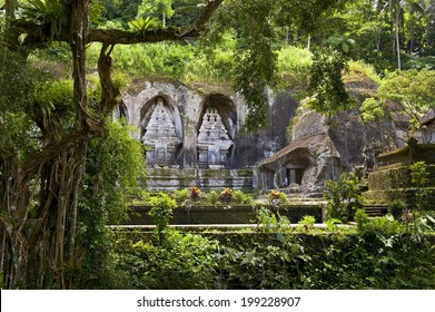 Gunung Kawi Temple. Gunug Kawi is an ancient temple situated in Pakerisan River, near Tampaksiring village in Bali. The archaeological complex is carved out of the living rock, dating to 11th century.