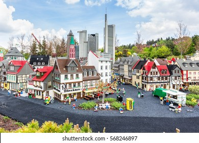 GUNZBURG GERMANY - APRIL 23: Miniland at Legoland Deutschland Resort on April 23, 2014 in Gunzburg