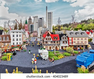 Gunzburg, GERMANY - MARCH 26: Legoland - mini Europe from LEGO bricks on March 26, 2016, Gunzburg, Germany