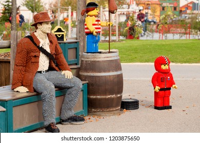 GUNZBURG, GERMANY - October 06, 2018: LEGOLAND RESORT - human figures made from LEGO bricks