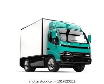 Guppie green small box truck - 3D Illustration